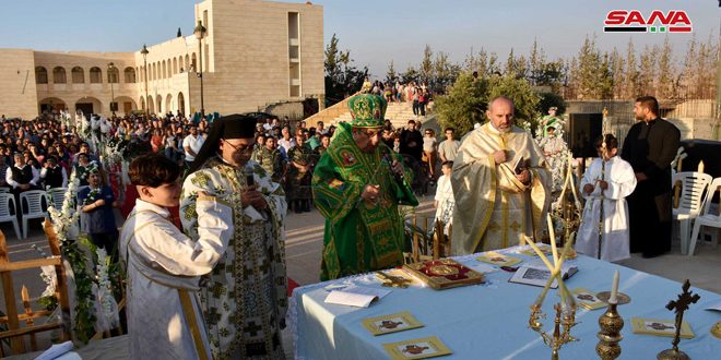 A mass held in Mar Elias convent in Homs countryside upon the return of displaced citizens to Qseir