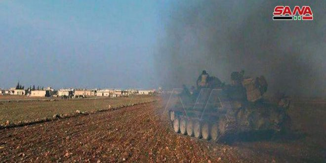 Army repels an attack by terrorist groups, destroys a number of their vehicles in Idleb countryside