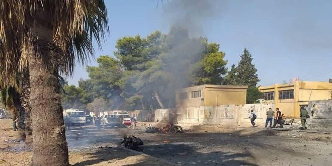 A car bomb explosion in al-Arbawia neighborhood in Qamishli, casualties reported