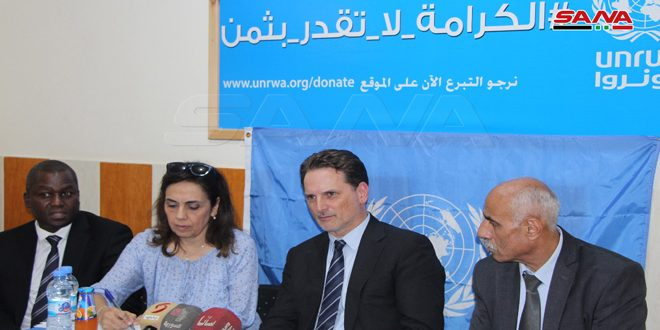 Krähenbühl: UNRWA to continue support to Palestinians