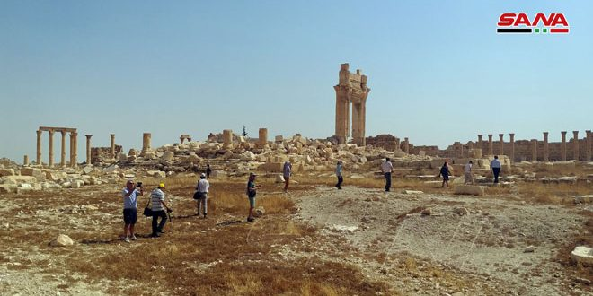 Palmyra restores its position on top of tourist delegations' agendas
