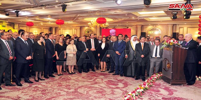 Al-Moallem underlines importance of enhancing Syrian-Chinese relations