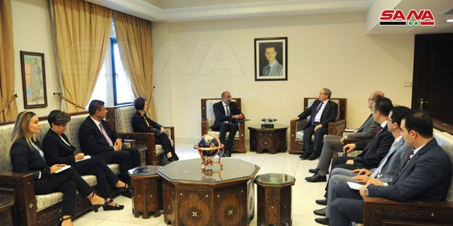 Mikdad receives new UN activities and humanitarian affairs resident coordinator