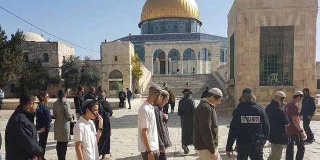 Dozens of Israeli settlers storm al-Aqsa Mosque under protection of occupation forces