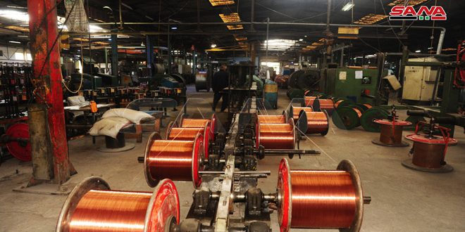 Damascus Cables Company covers local market's needs through producing 1200 types of cables