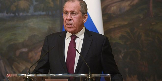 Lavrov underlines necessity of preserving Syria's sovereignty, continuing g efforts to settle crisis
