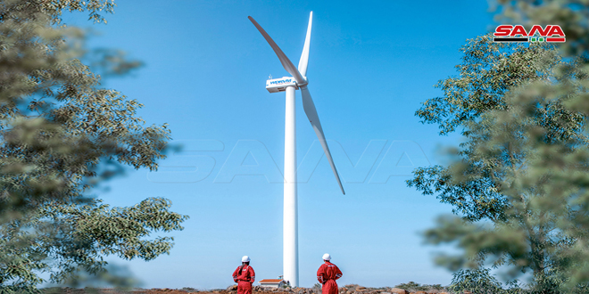 Syrian experts manage to manufacture, assemble and operate first wind turbine
