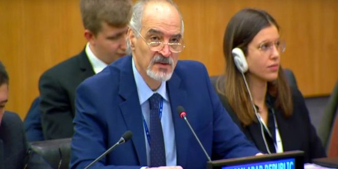 Al-Jaafari underlies necessity of lifting unilateral coercive economic measures imposed on the Syrian people