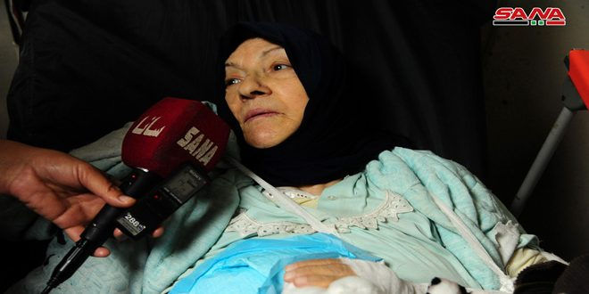 SANA interviews victims of Israeli attack on residential building in Mezza