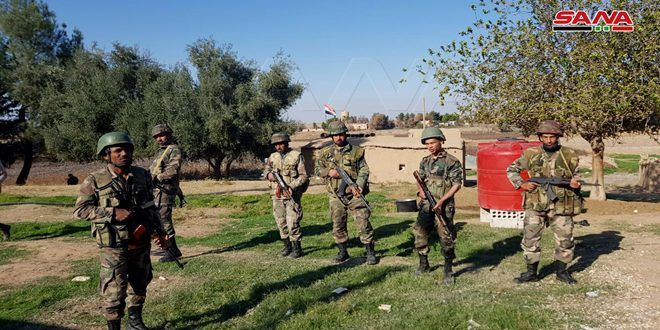 Army fortifies its positions in western side of Tal Tamer in Hasaka