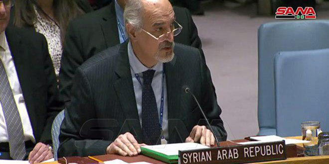 Al-Jaafari: Terrorist groups in Idleb continue to take civilians as human shields