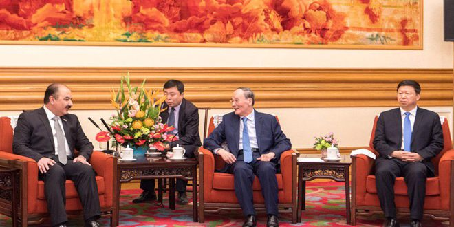 China's Vice President stresses his country's support to Syria in countering terrorism