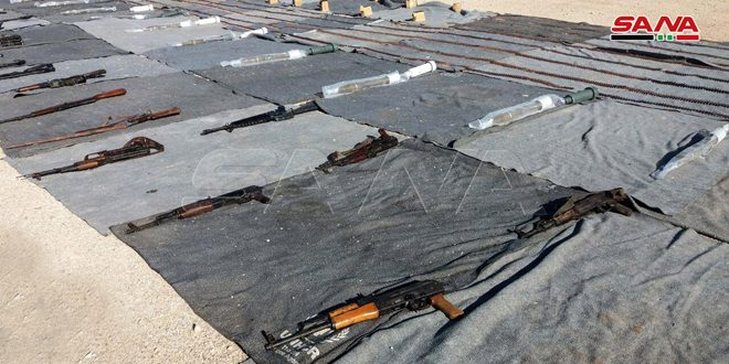 Israeli and western made weapons found in countryside of Damascus, Quneitra