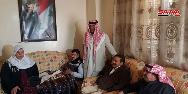 Upon directives of President al-Assad, , Hasaka Governor visits a number of wounded army personnel in province