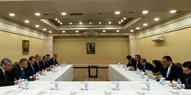 Syrian Arab Republic delegation to Astana holds meetings with Iranian delegation, UN delegation