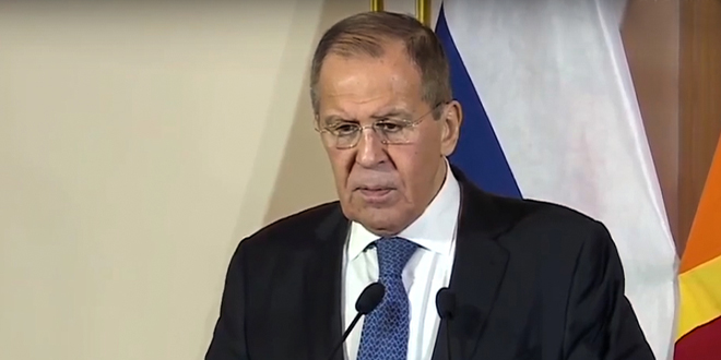 Lavrov: We will continue to support Syria in combating terrorism