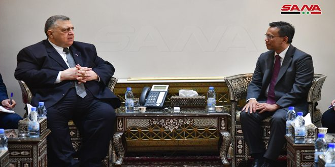 Sabbagh, Indonesian ambassador discuss cooperation