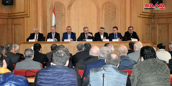 Needs of industrial facilities in newly-liberated areas in Aleppo countryside discussed