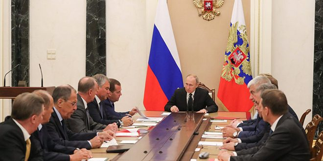 Putin discusses with SCRF's members the situation in Idleb