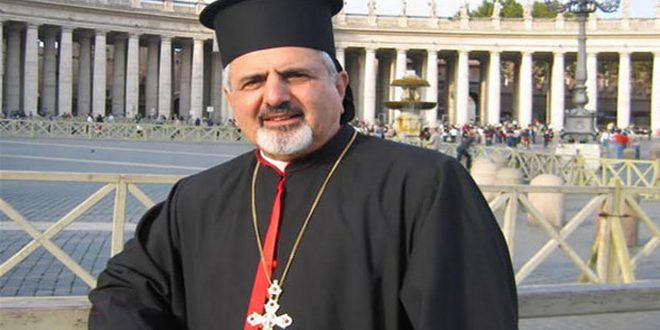 Patriarch Yonan renews his call to stop the terrorist war on Syria