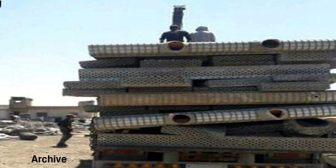 Al-Nusra,Turkistan terrorists loot metal pipes, sell parts of Zayzoun plant in Turkey