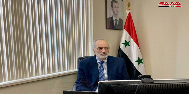 Al-Jaafari: US and Turkish governments set fire to agrarian crops in Syria