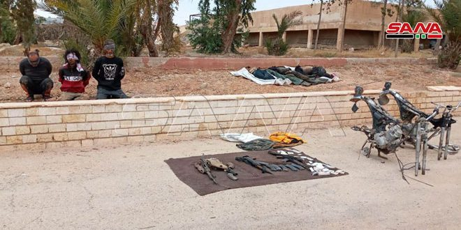 Authorities eliminate 3 terrorists, arrest 3 others in ambush northwest of al-Sukhna