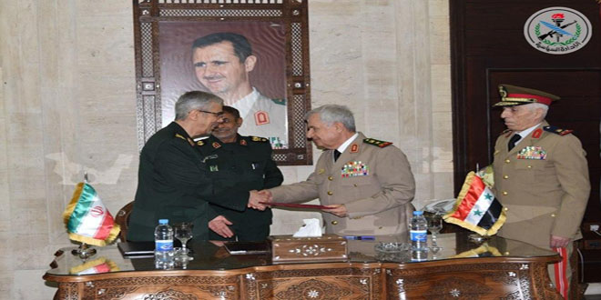 Syria and Iran ink agreement to enhance military and security cooperation