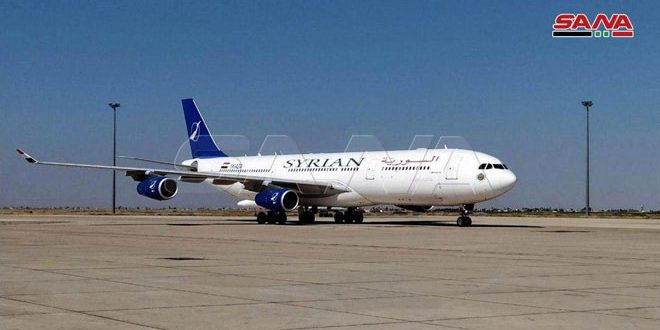 Transport Ministry: Running a flight of Syrian Airlines to evacuate 250 Syrian citizens stranded in Erbil, Iraq