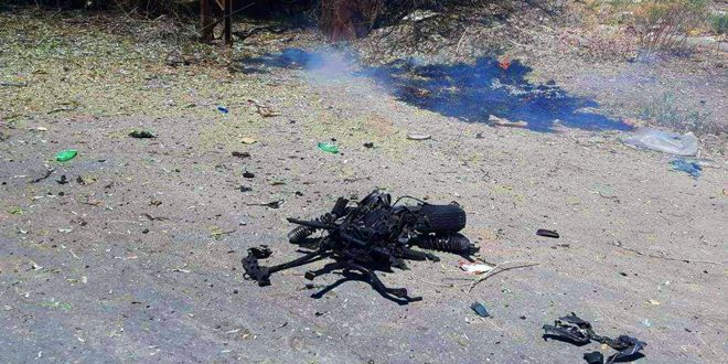 A number of people injured in a booby-trapped motorcycle blast in Hasaka countryside