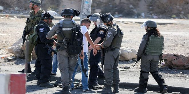 Several Palestinians arrested and injured in an Israeli