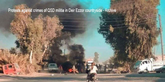 QSD militia kidnaps a number of civilians in Shihail village in Deir Ezzor countryside