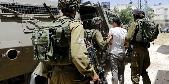 Occupation forces arrest nine Palestinians in the West Bank