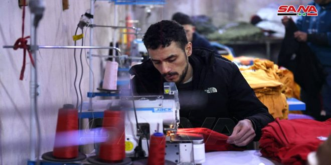 With determination and Will…tow wounded soldiers establish a factory to sew clothes in Aleppo