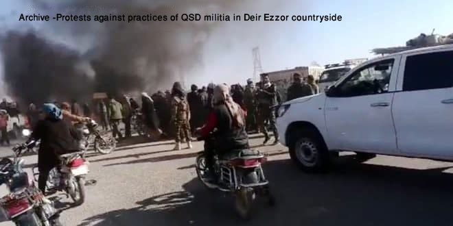 A number of QSD militants killed, others injured in attacks in Hasaka, Deir Ezzor countryside