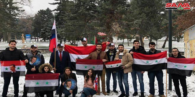 Syrian students in Slovakia renew standing by their homeland in face of terrorism
