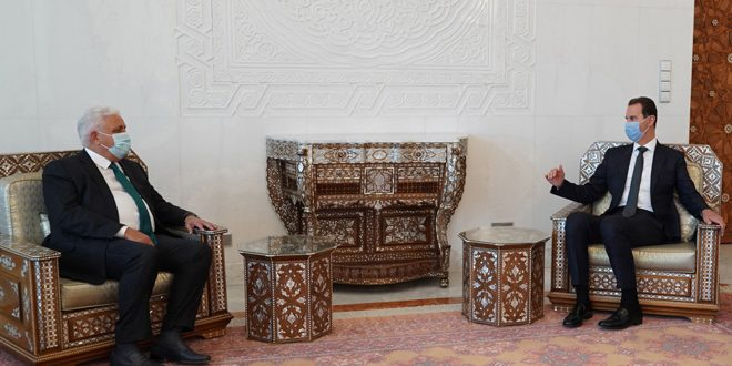 President al-Assad receives a message from Iraqi Prime Minister on bilateral relations