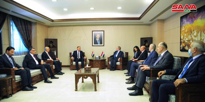 Mikdad discusses with Iraqi minister of Industry means of developing bilateral relations