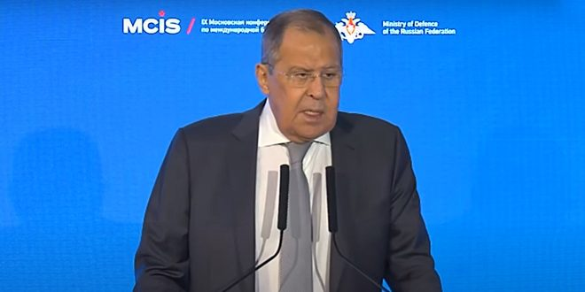Lavrov: We continue to provide support to Syria in addressing terrorism