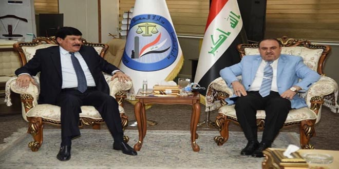 Syria, Iraq discuss means to develop bilateral cooperation in legal, judicial fields
