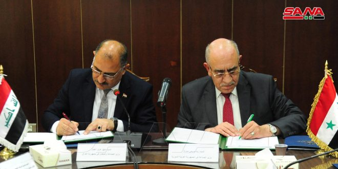 Syria, Iraq sign minutes of meetings… Industry Minister: starting point for future cooperation