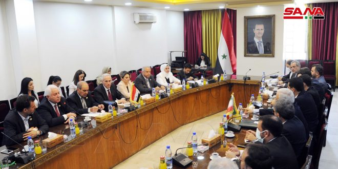 Syrian-Iranian talks to enhance and develop parliamentary relations