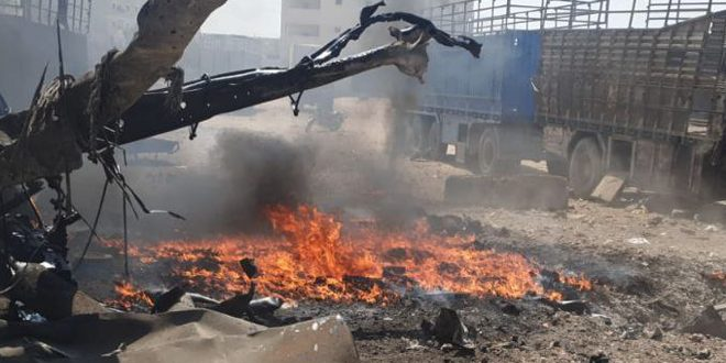 Several civilians injured in explosive device blast in Azaz City, Aleppo countryside