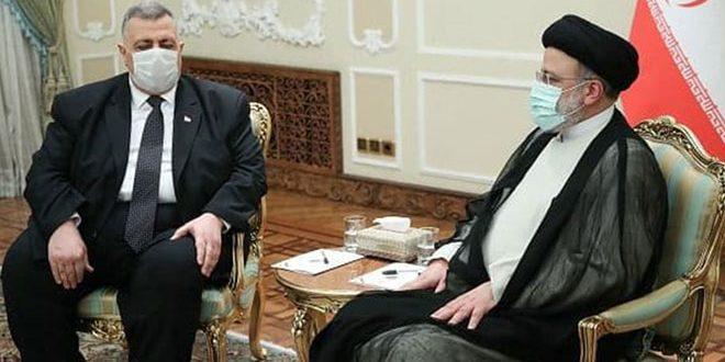 Representing President al-Assad, Sabbagh congratulates Iranian President, Raisi : We will continue strong cooperation