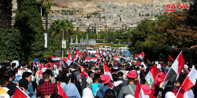 Thousands of students take part in annual carnival of Damascus medical and engineering faculties