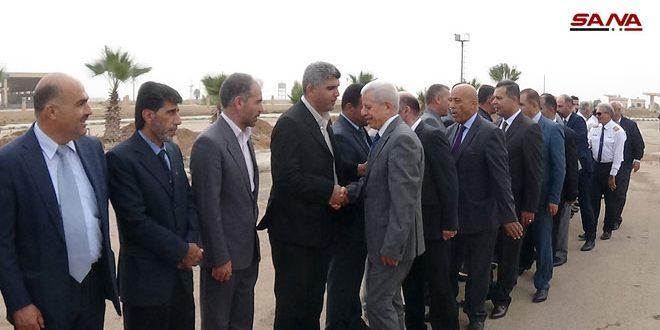 Una delegación del sindicato de abogados jordanos llega a Siria a través del cruce de Nassib