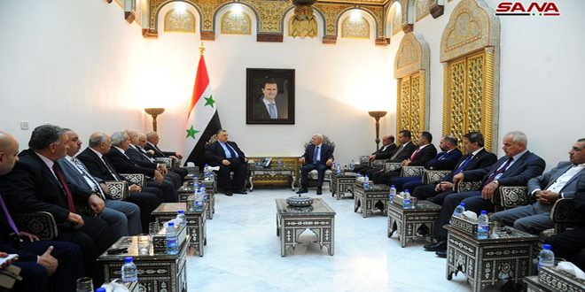 Sabagh a una delegación jordana: profundos lazos unen a los pueblos sirio y jordano
