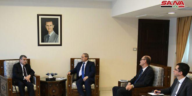 Vicecanciller sirio examina  cooperación con el Programa de las Naciones Unidas para el Desarrollo