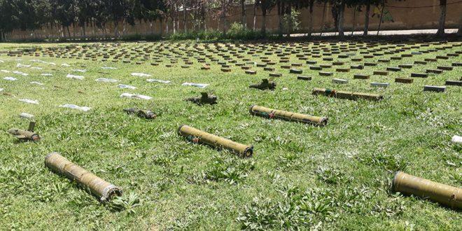 Confiscan armas dejadas por los terroristas, además de piezas arqueológicas y drogas en campos de Damasco, Deraa y Hama
