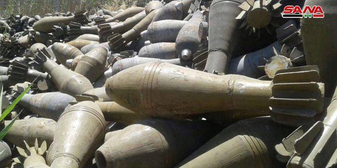 Miles de proyectiles de mortero encontrados en los campos de Deir Ezzor y Raqqa